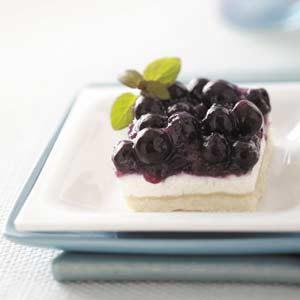 Blueberry Torte Squares
