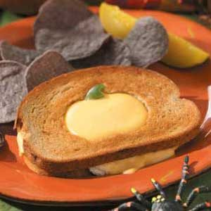 Halloween Tuna Cheese Melts