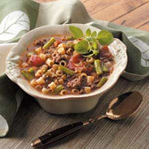 Hearty Hamburger Vegetable Soup