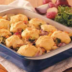 Cornbread Vegetable Cobbler