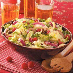Herbed Raspberry-Hazelnut Salad