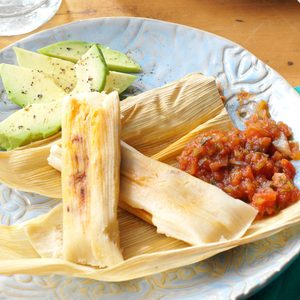 Pork and Apple Tamales