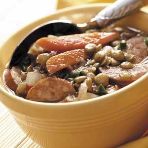 Healthy Sausage Lentil Soup