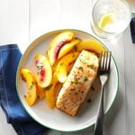 Grilled Salmon with Nectarines