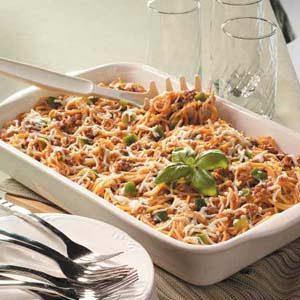 Baked Spaghetti Potluck Casserole