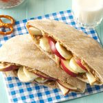 Fruity Peanut Butter Pitas