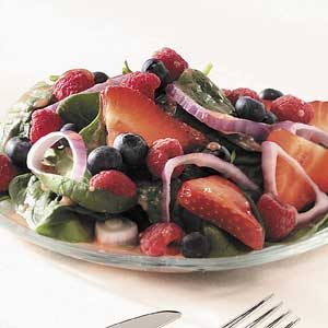 Triple-Berry Spinach Salad