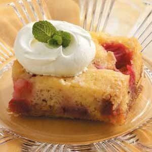 Rhubarb Dessert Cake
