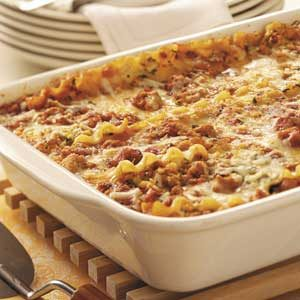 Simple Sausage Lasagna