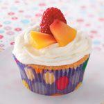 Raspberry Peach Cupcakes