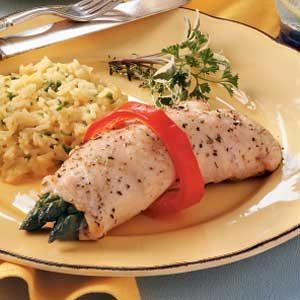 Chicken Asparagus Bundles