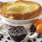 Puff Pancake with Blueberry Sauce