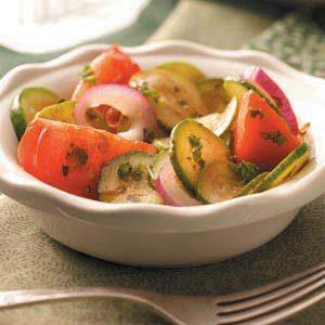 Crisp Tomato Zucchini Salad