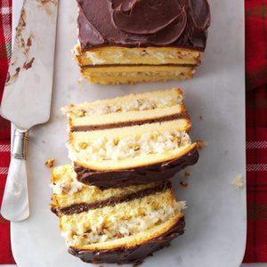 Coconut-Layered Pound Cake