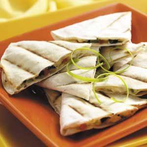 Grilled Feta Quesadillas