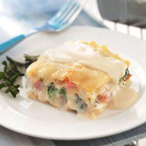 Vegetarian Lasagna Alfredo