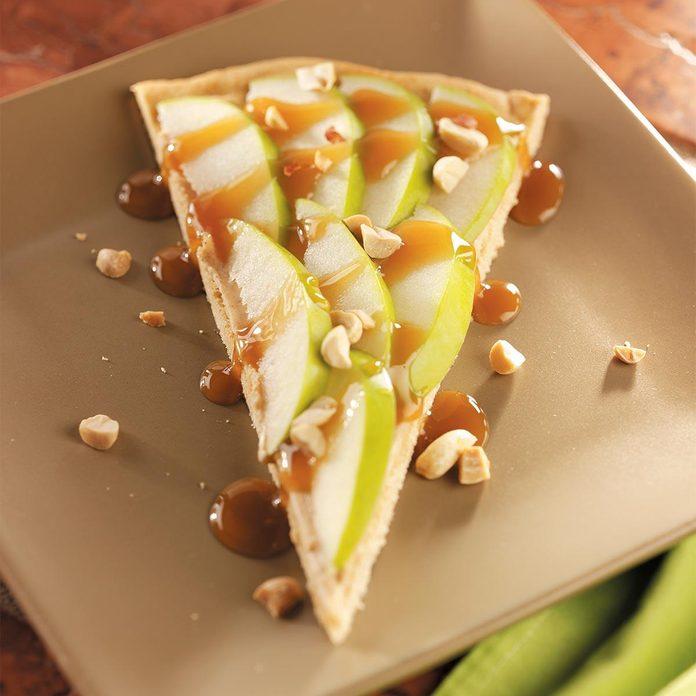 Caramel Apple Dessert Pizza