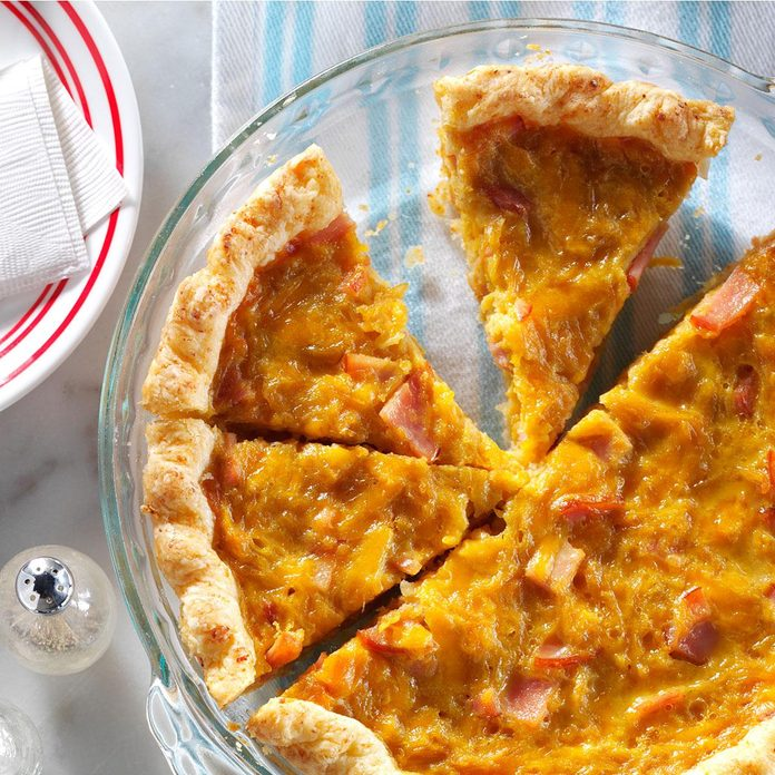 Canadian Bacon Onion Quiche