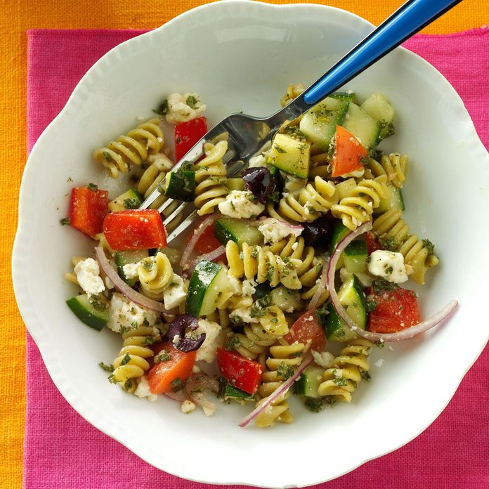 Spring Greek Pasta Salad