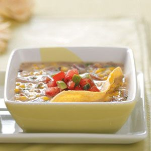 Corn Soup with Pico de Gallo
