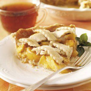 Butterscotch Peach Pie