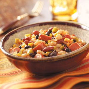 Spicy Beans with Turkey Sausage