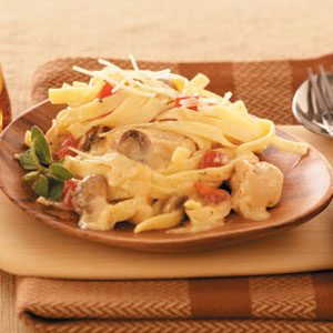 Makeover Chicken Fettuccine Alfredo