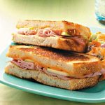 Ham & Apple Grilled Cheese Sandwiches