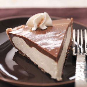 Makeover Chocolate Eggnog Pie