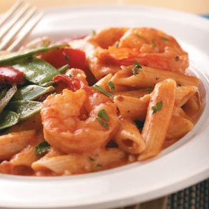 Creamy Tomato Shrimp with Penne