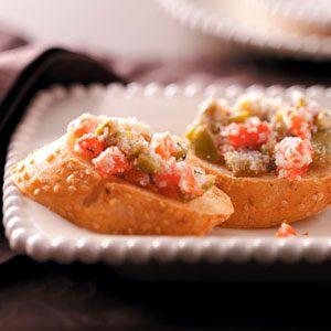 Olive & Roasted Pepper Bruschetta