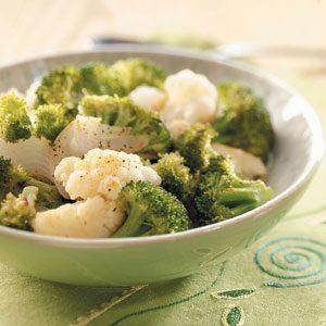 Grilled Broccoli & Cauliflower