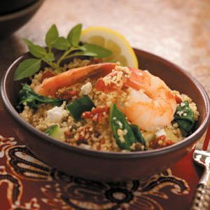 Mediterranean Shrimp Couscous