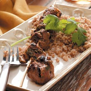 Moroccan Beef Kabobs
