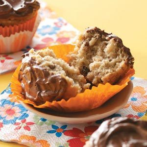 Banana Cupcakes with Ganache Frosting