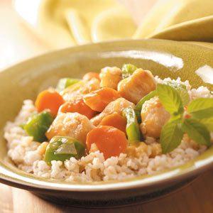 Orange Chicken and Veggies with Rice