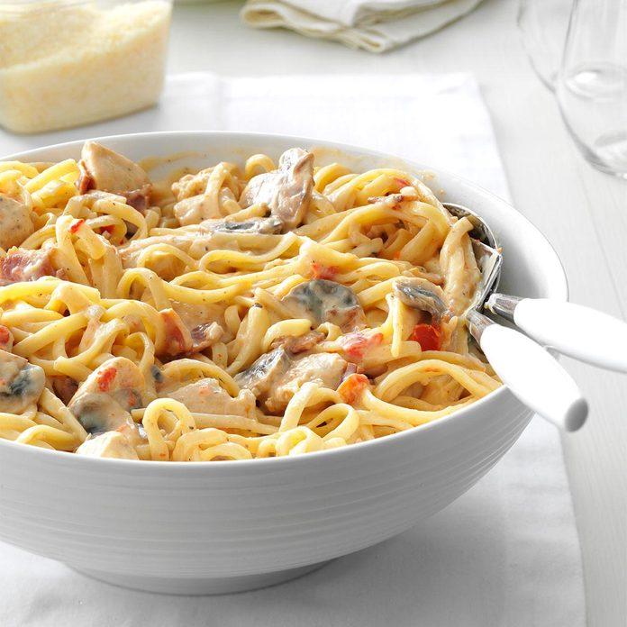 Inspired By: Tuscani Chicken Alfredo Pasta