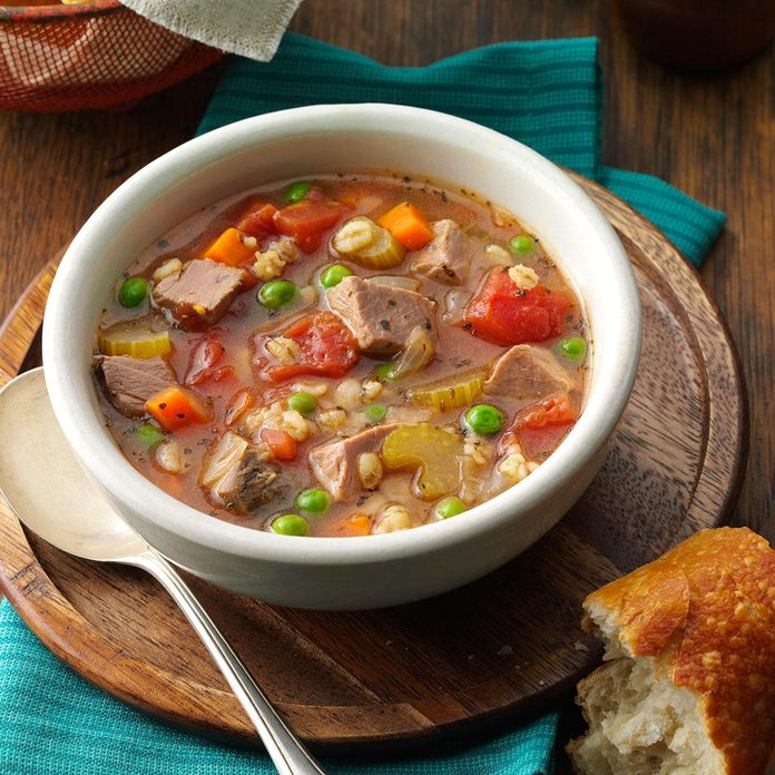 Beef Barley Soup for 2