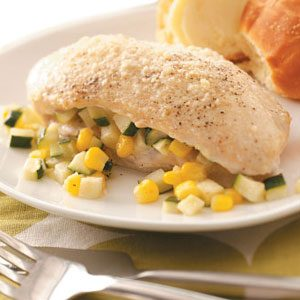 Zucchini and Corn-Stuffed Chicken
