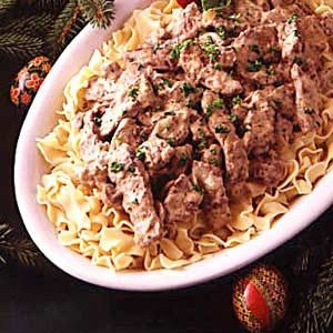 Red River Beef Stroganoff