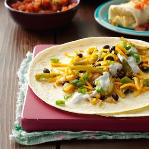 Corn, Rice & Bean Burritos
