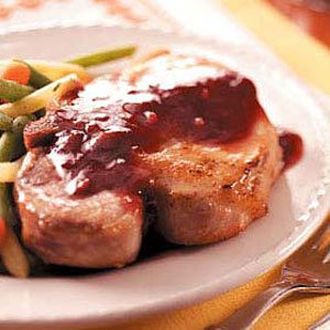 Pork Chops with Blackberry Sauce