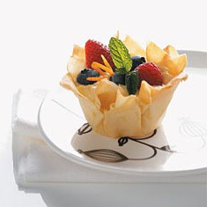 Berry & Yogurt Phyllo Nests