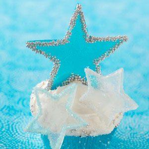 Winter Fantasy Star Cupcakes