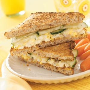 Egg Salad and Cucumber Sandwiches