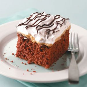 Makeover Chocolate-Caramel Nut Cake