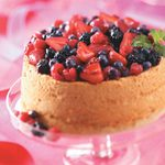 Angel Food Cake with Berry Sauce