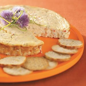 Smoked Salmon and Chives Cheesecake