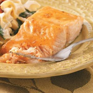 Glazed Salmon  for Two