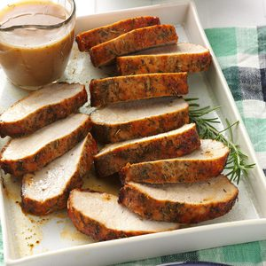 Herbed Pork Roast with Gravy
